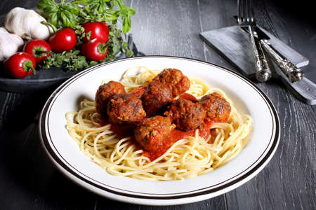 pasta with meatball photo