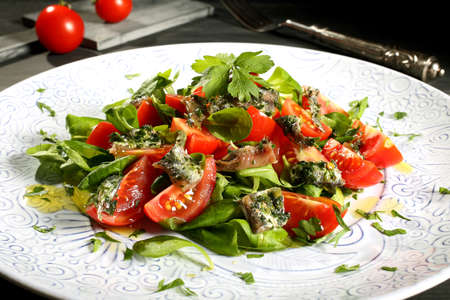 anchovy: Nicoise salad anchovy and tomatoes