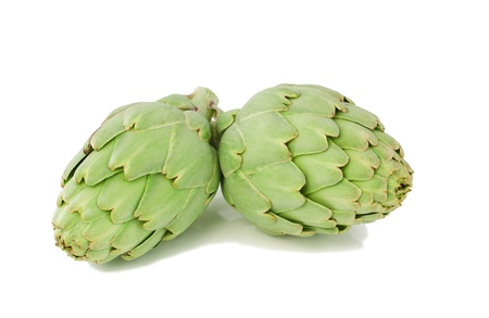 Artichoke fresh. Isolated on a white background.a Stock Photo