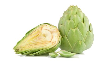 Artichoke fresh. Isolated on a white background.