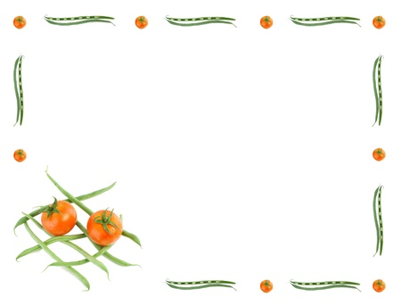 vegetables border.isolated on white background Stock Photo - 10017469