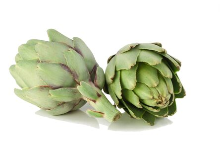 Artichoke fresh.Isolated on a white background