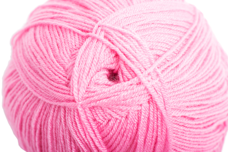 skein: Ball of pink yarn  isolated on white