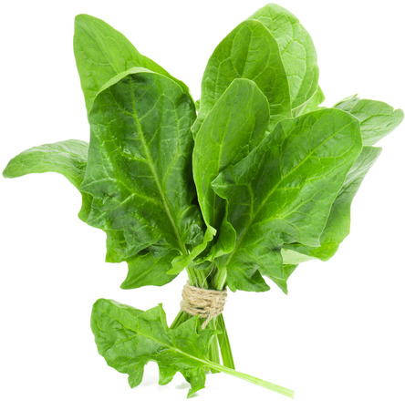 A bunch of green spinach isolated on white background