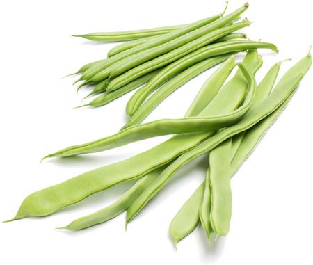 haricot vert:  green beans (haricot vert) on a white background
