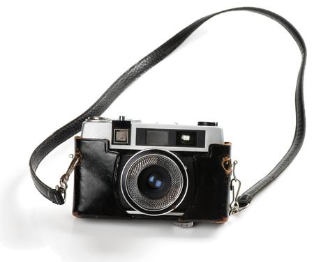 Old film photo-camera isolated on white background. Reklamní fotografie