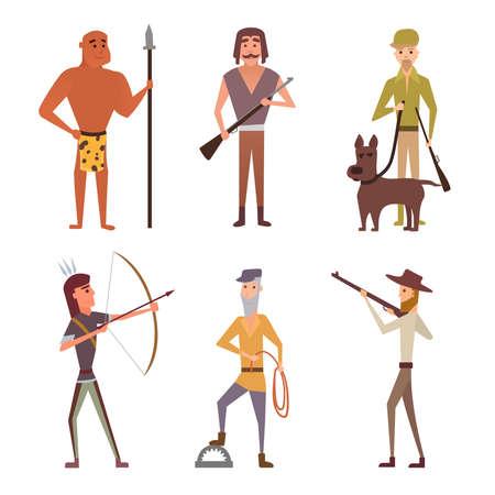 hunter's: Set hunters illustration Illustration