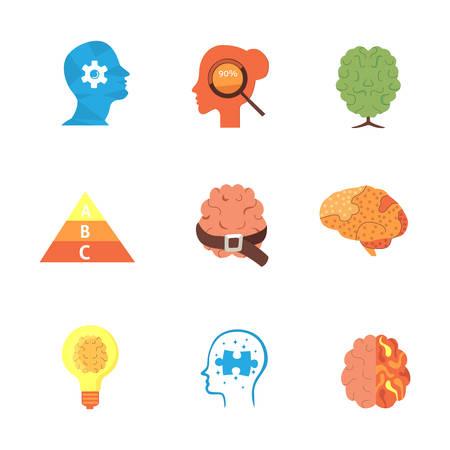 psychiatrist: Psychology icons set