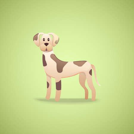 dalmatian: Cartoon character dalmatian dog