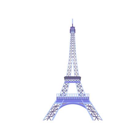 Eiffel tower isolated vector illustration eps10 Illustration