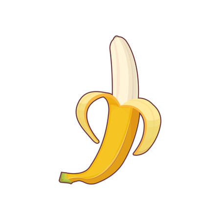 carbohydrate: banana icon isolated eps10 vector