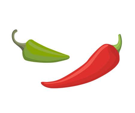 Pepper set, vector illustration flat style