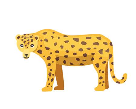 Jaguar cat panther cartoon illustration Illustration