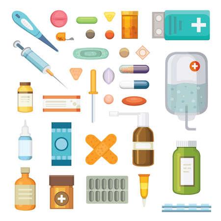 medicaments: Cartoon medicaments.
