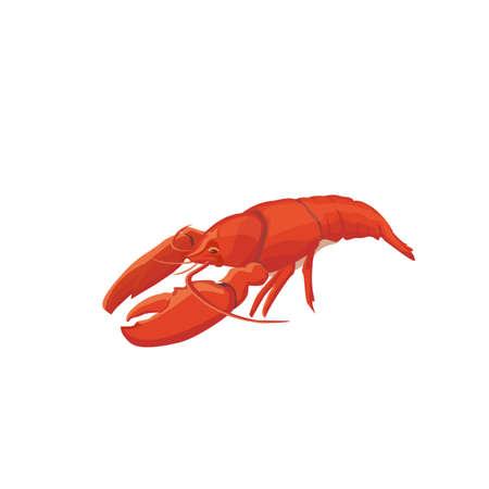 Sea food crawfish.   icon isolated.