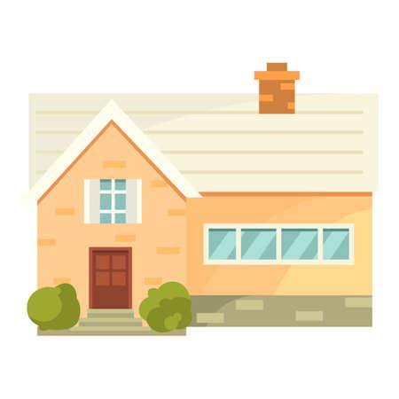 residental: Residential house cartoon style Illustration