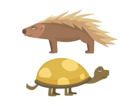 African animals .Turtle Cartoon Vector Illustration isolated.