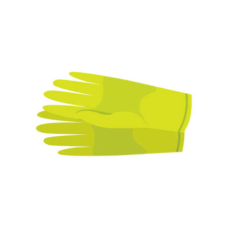 Clean latex gloves vector illustration isolated on white background Illustration