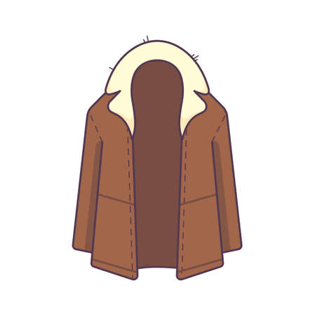 winter jacket cloth isolated icon vector.