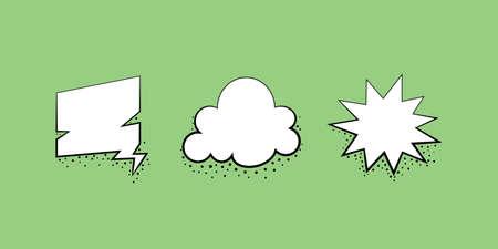 Set speech bubble design template. Vector illustration in retro style.