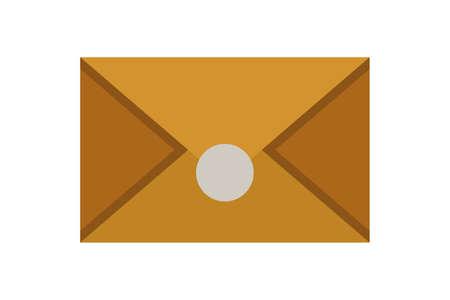 Old envelope vector icon in cartoon style Ilustração