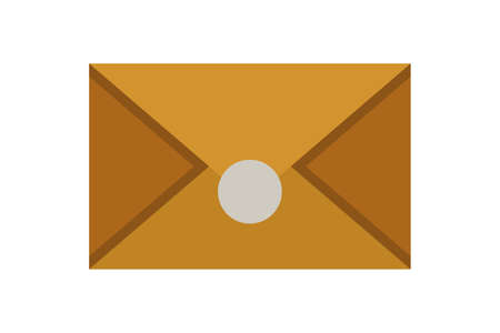 Old envelope vector icon in cartoon style.