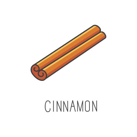 cinnamon line vector illustration, cooking isolated icon.