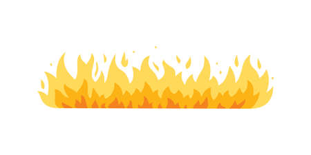 Fire flame vector icon in cartoon style. Stock Illustratie