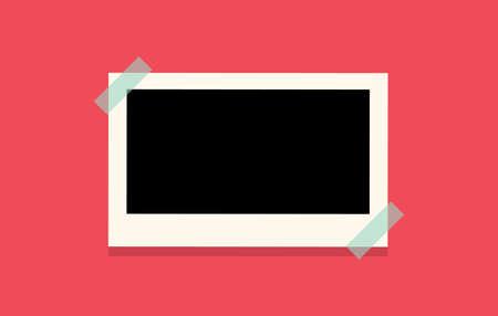 Retro photo frame templates for your photos in cartoon style.