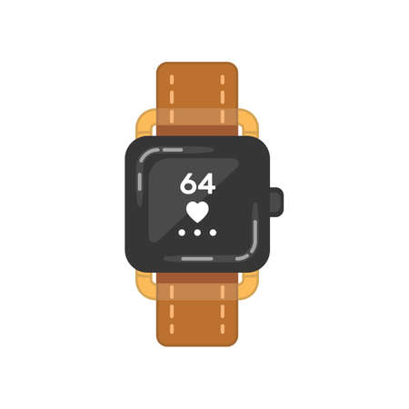 Classic watche vector icon. Watch for businessman or fashion clock.
