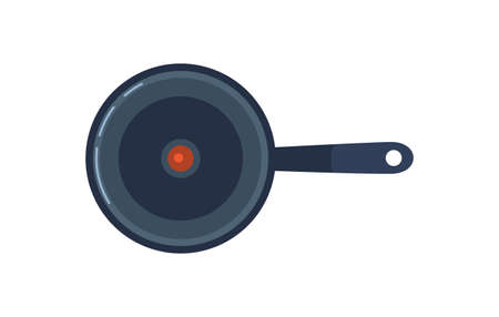 Frying pan vector icon isolated on white background. Çizim