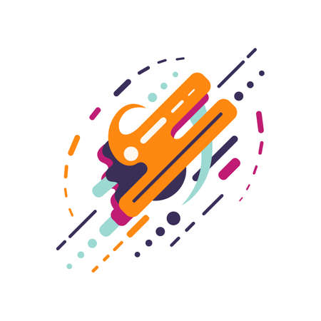 abstract colored forms and line vector isolated elements Ilustrace