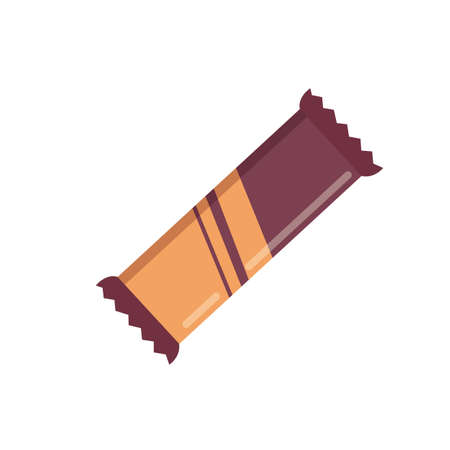 Cute chocolate bar candys set of vector icons. snack collection