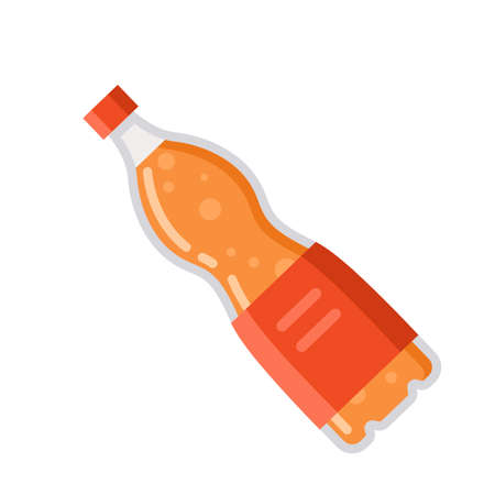 Set of soda drinks and juice in plastic and aluminum packaging vector illustration 向量圖像