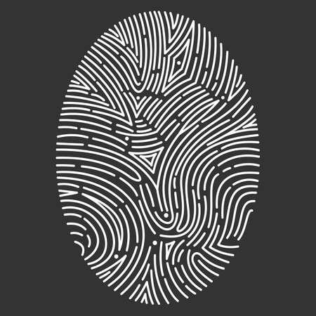 Vector fingerprint scan Icons. hand drawn biometric fingerprints set. id illustration Ilustrace