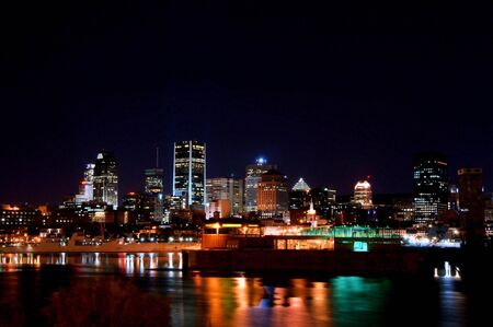 Part of Downtown Montreal at Night