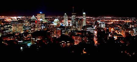 Skyline of Downtown Montreal at Night