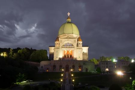 Saint Joseph Church of Montreal at night #1 Stock Photo