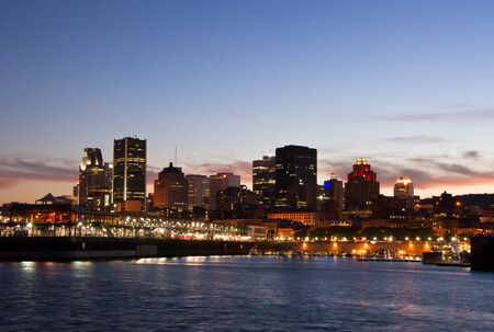 The Port of Montreal with the city in the background