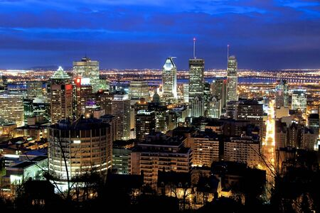 View of Montreal Office Building at Dusk