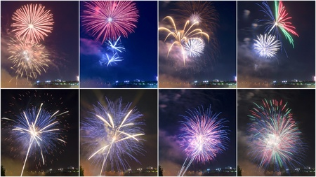 Different Colors Explosion of Firework in Niagara Falls Ontario,Canada # 2.