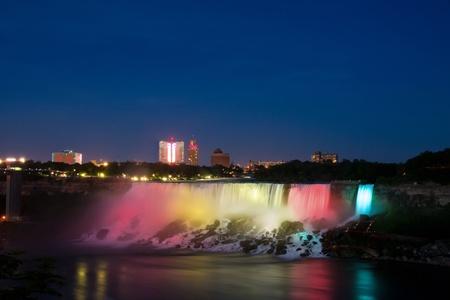 (Waterfalls) Niagara Falls at Night.Ontario,Canada.