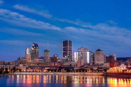 HDR Image of the West Side of Montreal Harbour overlooking the downtown
