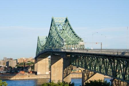 trafic: Jacques-Cartier Bridge of Montreal, Quebec  2  Stock Photo