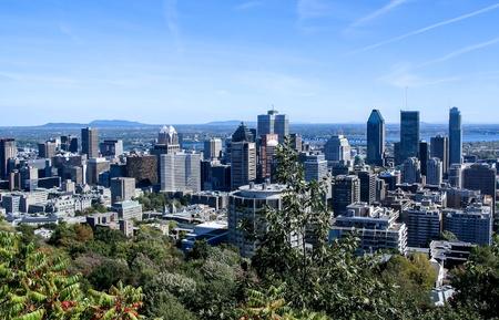 Skyline da baixa de Montreal Banco de Imagens