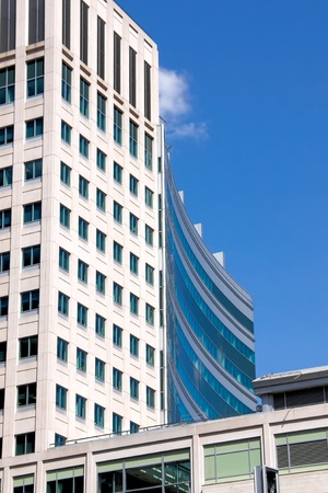 heaving: Office Building of Montreal Stock Photo