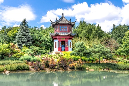 Chinese Temple Garden in Montreal photo