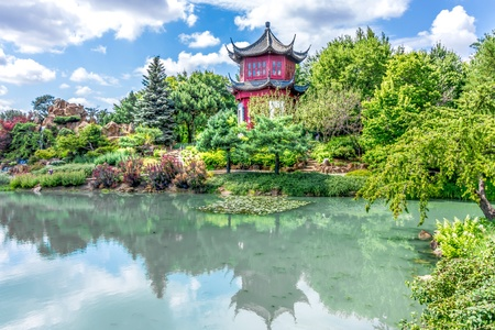 Chinese Temple Garden in Montreal Stock Photo - 16606199