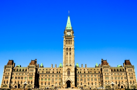 Canadian Parliament Building at Ottawa horizontal position HDR image # 2 Stock Photo - 16659015