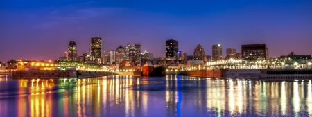 montreal: Panoramic view of Downtown Montreal HDR image